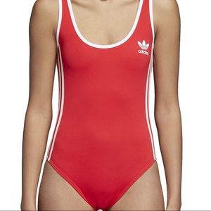 Adidas red backless bodysuit 🥰🥰